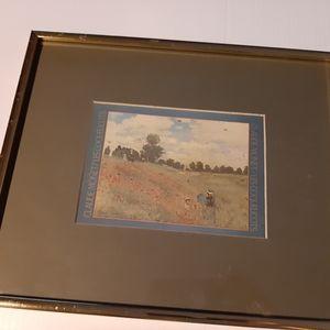 Claude Monet Signed -Wild Poppies Near Argenteuil